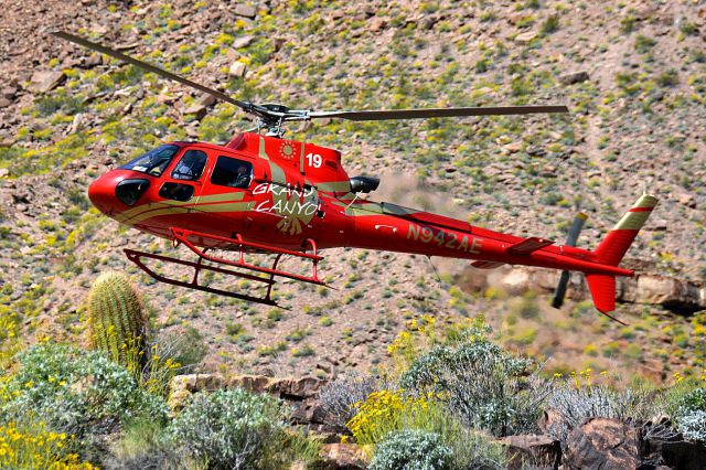 Eurocopter AS-350 AStar (N942AE) - Eurocopter AS.350-B3 down at the grand canyon