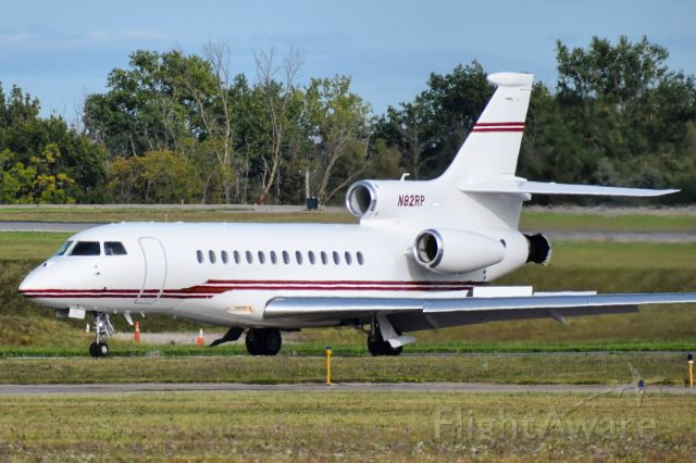 Dassault Falcon 7X (N82RP) - 2008 Dassault Aviation Falcon 7X operated by Rich Aviation, arriving back to home base in Buffalo NY (KBUF)