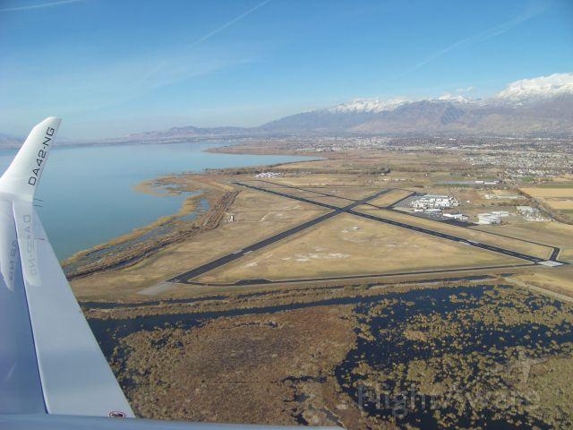 Diamond Twin Star (N104TS) - Aerial shot of Provo Municipal Airport, Utah
