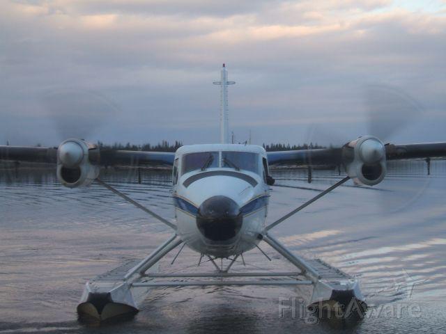 De Havilland Canada Twin Otter (C-GJDE) - Just approaching the Dock at Otter Creek ,Goose Bay NL