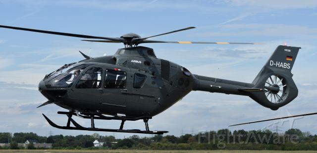 D-HABS — - German Army EC-135 lifting off from Bonn-Hangelar. Believe it is rented from ADAC.