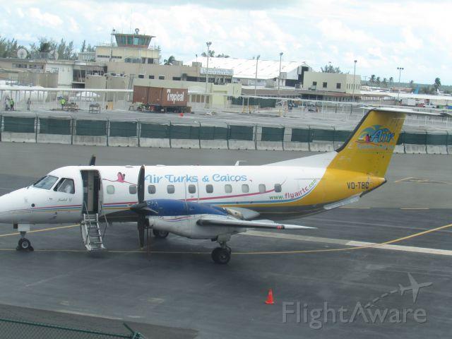 Embraer EMB-120 Brasilia (VQ-TBC) - Boarding At NAS