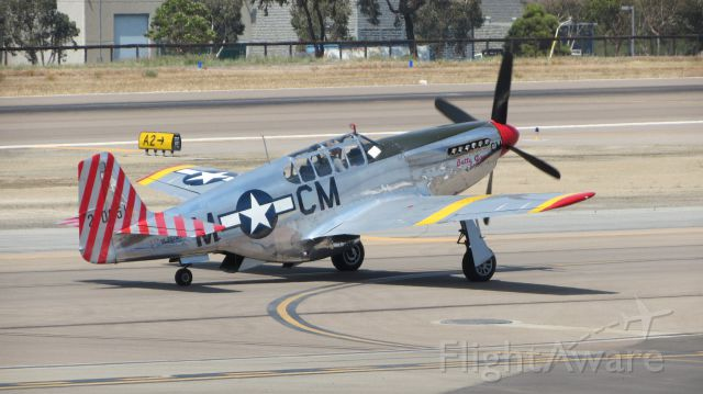 NL251MX — - Collings Foundation TP-51C at KCRQ taxiing for takeoff.
