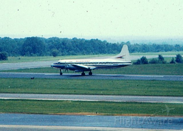 CONVAIR CV-580 — - Convair 580 rolls out  on runway 15 (now 15-R) at KBWI (Then known as Friendship International Airport)