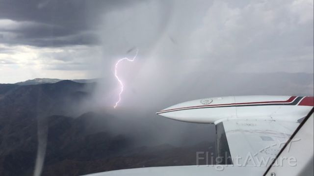 — — - flying back from Prescott Arizona, to Phoenix deer valley airport,<br />Encountered a storm , sept 7th 2015