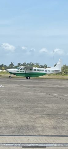 Cessna Caravan (V3-HID) - Maya Island Air sporting the new livery but missing the tail theme logo. My first official spotting in Belize watching the local action at Phillip S.W. Goldson International airport on April 9,2021.