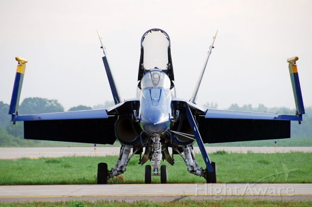 16-3106 — - McDonnell Douglas F/A-18A Hornet (c/n 0495/A409). June 27, 2010. Blue Angel # 2 catching the early morning light.