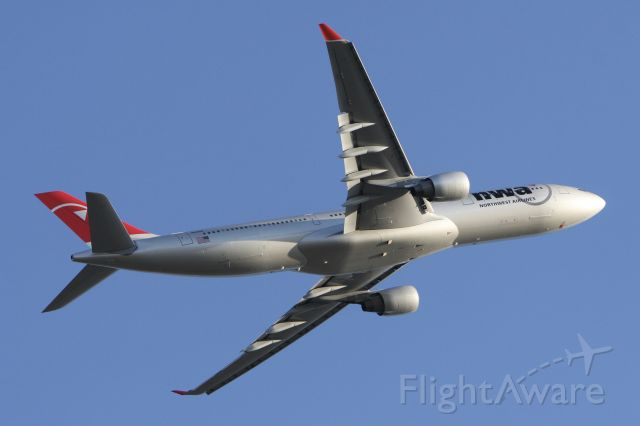 Airbus A330-300 (N816NW) - November 3, 2007 - departed from Detroit