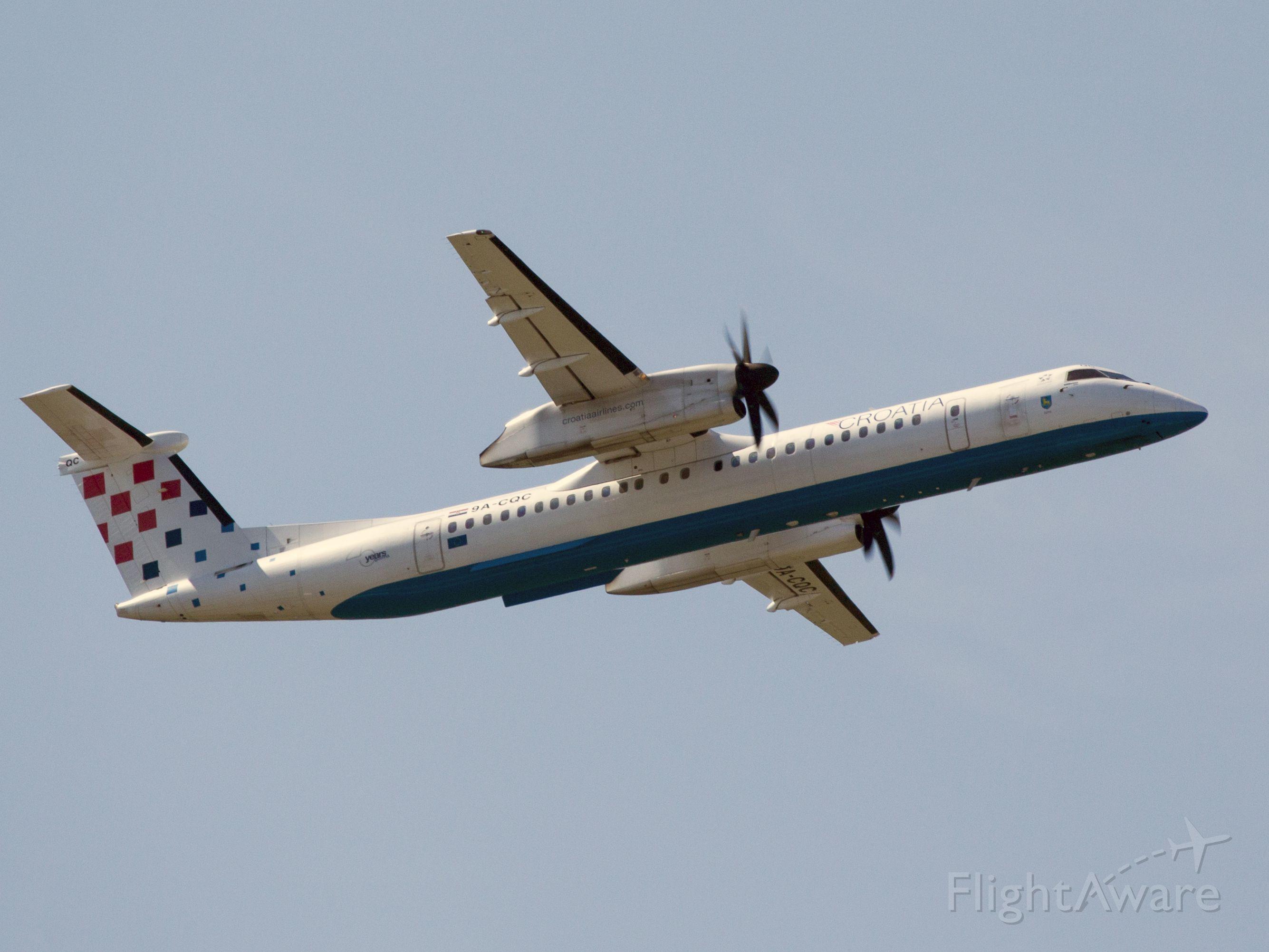 de Havilland Dash 8-400 (9A-CQC) - At Vienna, Austria.