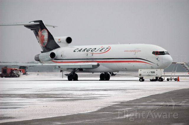 BOEING 727-200 (C-GCJN) - Boeing 727-225 sitting idle at CYHM/YHM on a cold, snowy day (January 28, 2017)