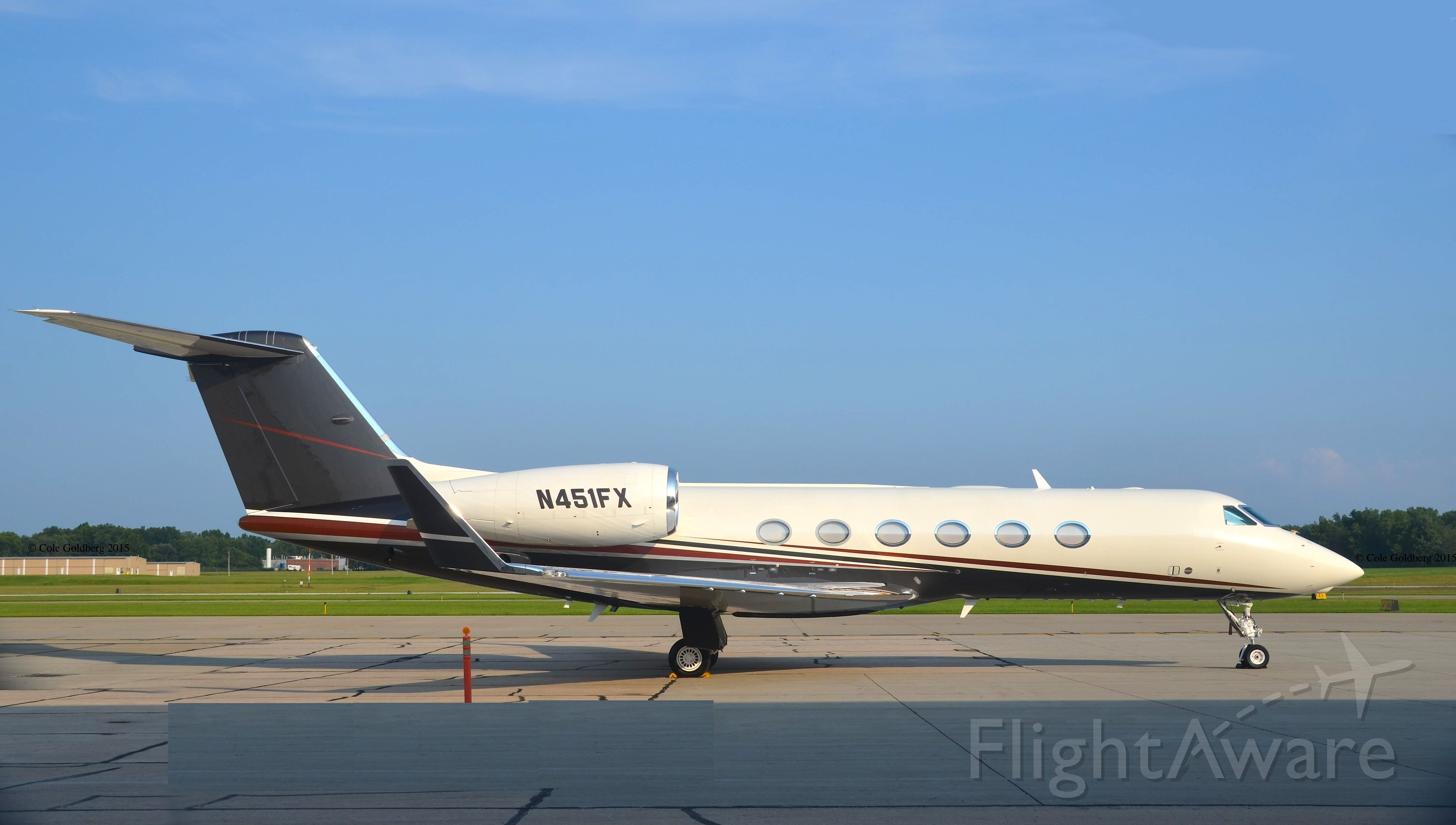 Gulfstream Aerospace Gulfstream IV (LXJ451) - N451FX/LXJ451 seen at Cuyahoga County Airport. Delivery date 6/23/15. Please look for more photos on OPShots.net