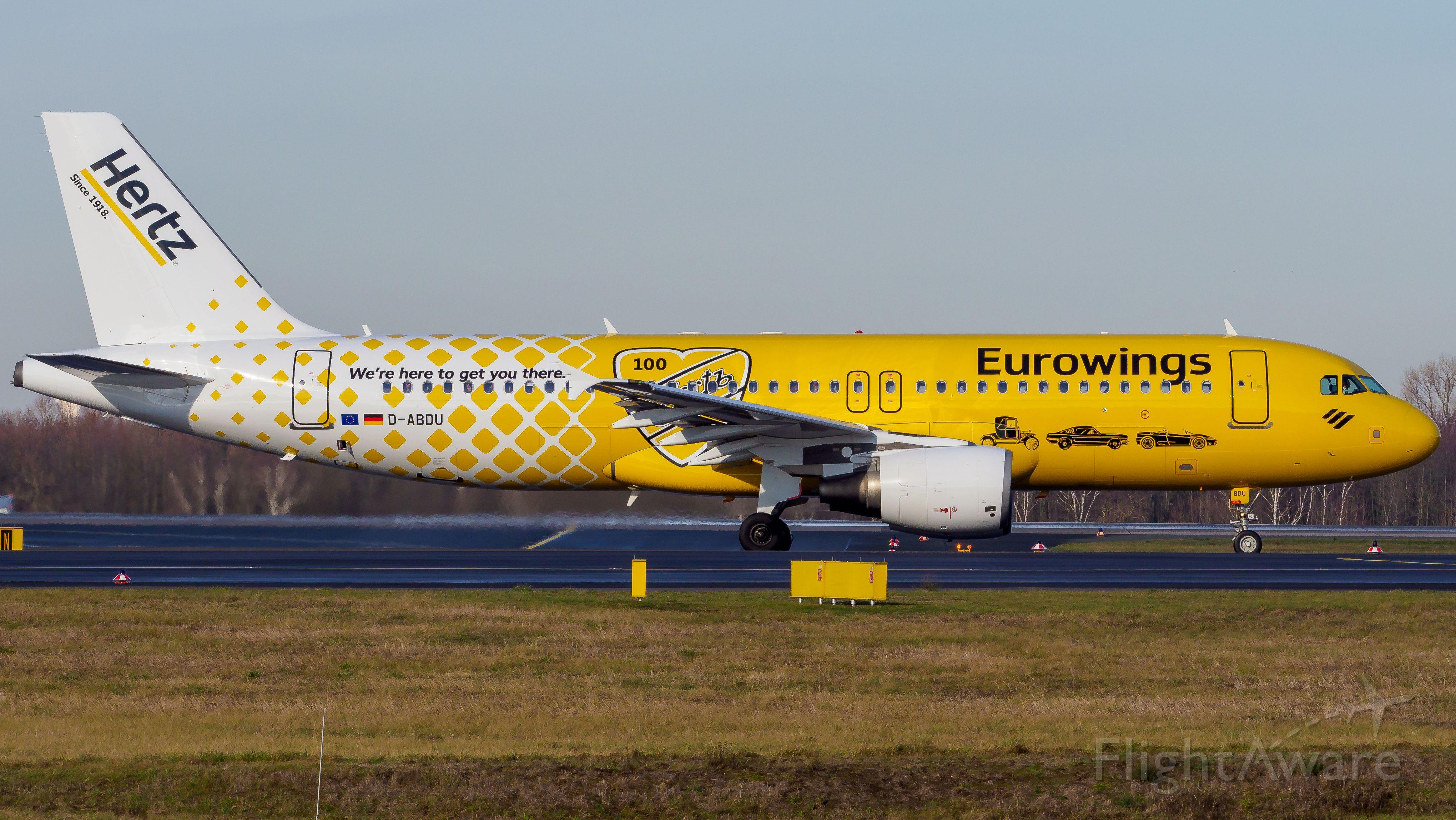 Airbus A320 (D-ABDU) - Hertz livery