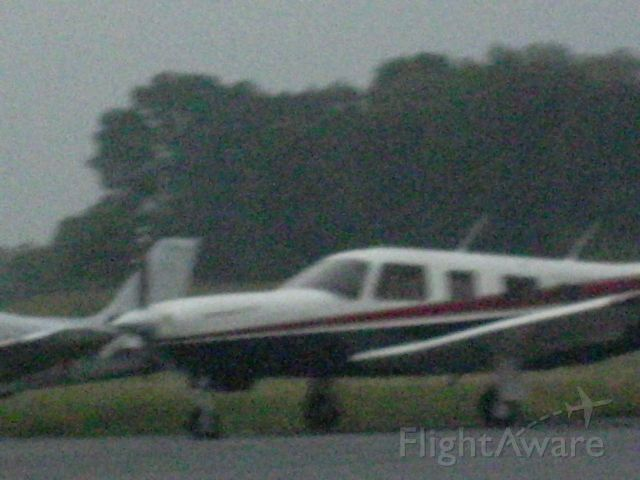 — — - A blurry picture of this plane parked on the ramp at KDYL Airport in pennsylvania.
