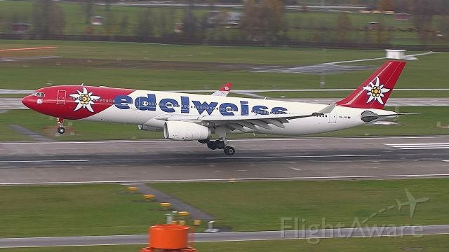 Airbus A330-300 (HB-JHQ) - Edelweiss from Tampa Florida (RW28)