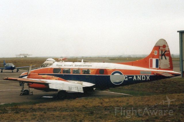 Hawker Siddeley Dove (G-ANDX) - Seen here on 23-Jan-96.br /br /Registration cancelled 24-Feb-99.