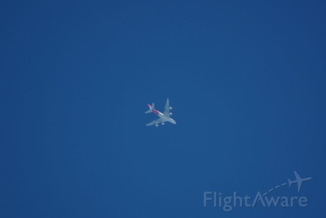 Airbus A380-800 (VH-OQD) - Qantas VH-OQD Flight QF-7 Enroute YSSY-KDFW at FL390.  Photographed near Helotes, Texas, USA on Saturday April 2, 2016 1700 Hrs UTC
