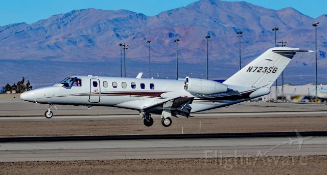 Cessna Citation CJ3 (N723SG) - N723SG 2011 Cessna 525B CitationJet CJ3 s/n 525B0368 - Las Vegas - McCarran International (LAS / KLAS)<br />USA - Nevada,  January 18, 2019<br />Photo: TDelCoro