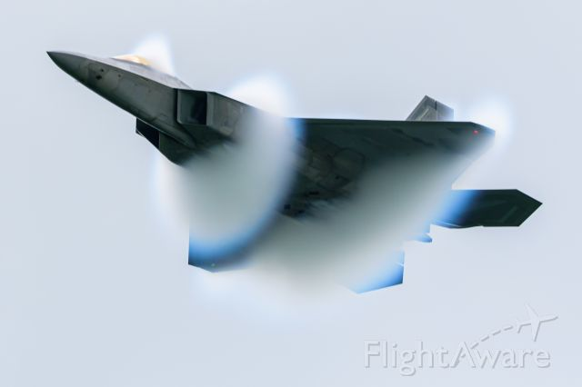 """Lockheed F-22 Raptor — - Major Joshua """"Cabo"""" Gunderson of the F-22 Raptor Demo Team performing at the 2021 Greatest Show On Turf 2021 - Operation Thanks From Above Airshow in Geneseo, New York."""