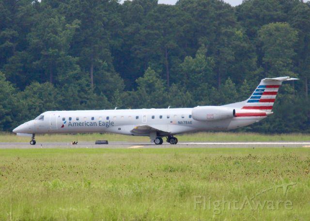 Embraer ERJ-145 (N678AE) - At Shreveport Regional.