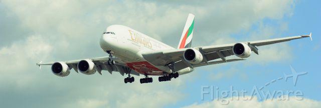 Airbus A380-800 — - Landing @ LHR