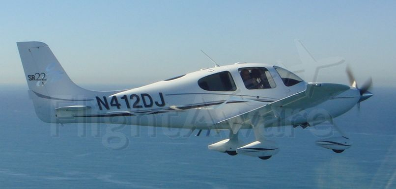 Cirrus SR-22 (N412DJ) - Over the Pacific Ocean off the coast of San Diego