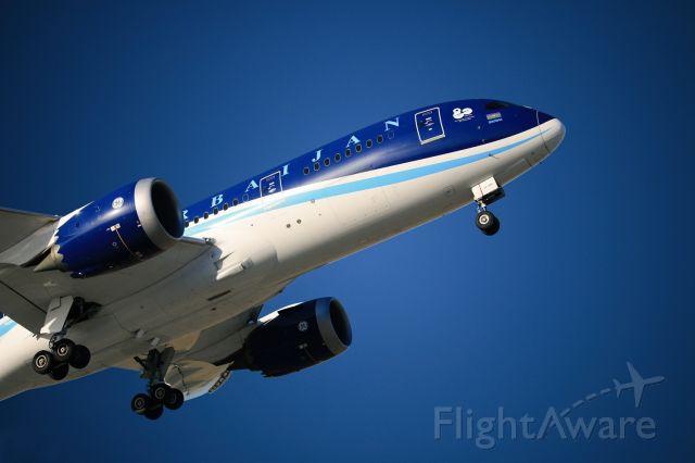 Boeing 787-8 (VP-BBR) - My lovely Boeing 787-8 Dreamliner flying just a little bit over me.