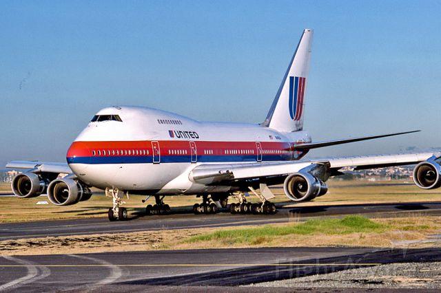 N147UA — - UNITED AIRLINES - BOEING 747SP-21 - REG : N147UA / 8547 (CN 21548/331 ) - KINGSFORD SMITH INTERNATIONAL AIRPORT SYDNEY NSW. AUSTRALIA - YSSL 28/6/1988
