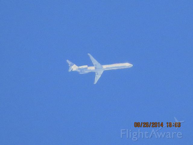 McDonnell Douglas MD-82 (N467AA) - American Airlines flight 1056 from DSM to DFW over the Southern Kansas and Missouri state line at 35k feet