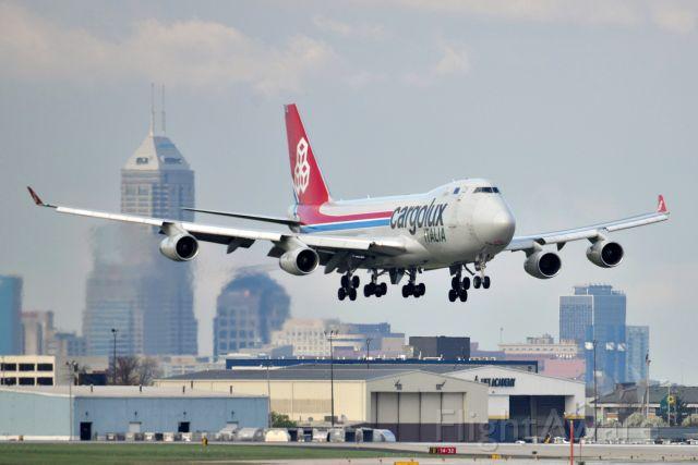 Boeing 747-400 (LX-TCV) - Short final for 23-L on 04-08-21.