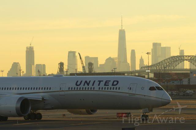 BOEING 787-10 Dreamliner (N12003) - Taken from inside Terminal B, Newark Liberty