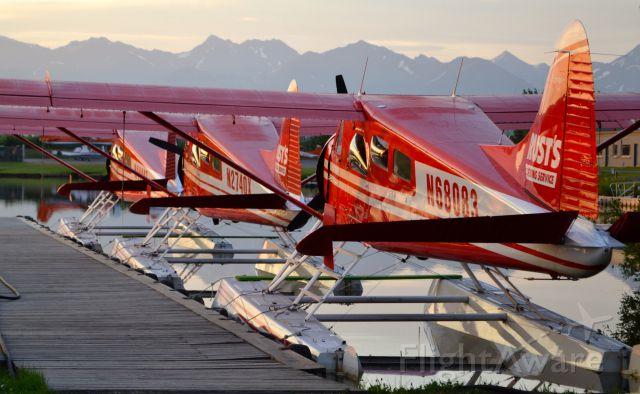 De Havilland Canada DHC-2 Mk1 Beaver (N68083) - 4 am Ready to work on Lake Hood , Anchorage Alaska