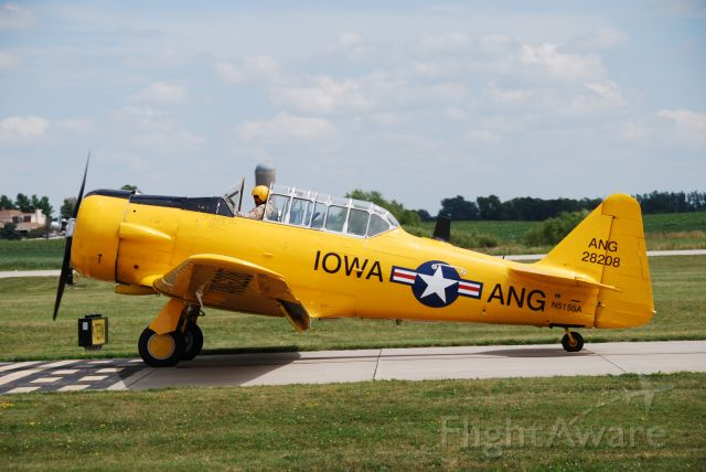 North American T-6 Texan (N515SA) - A T-6 in Iowa Air National Guard colors circa 1951, coming in from it's routine at Fly Iowa 2019.