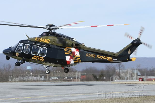 BELL-AGUSTA AB-139 (N384MD) - March 15, 2021 - Trooper 3 departed Frederick