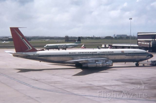 Boeing 707-300 (ZS-SAE) - Sydney, New South Wales, 1972.