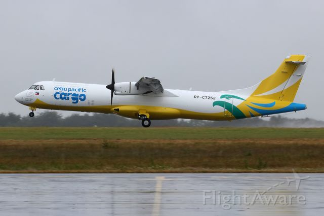 ATR ATR-72 (RP-C7252) - re-delivery 18jul19 DNR-PFO after freighter conversion