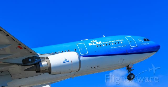 Airbus A330-200 (PH-AOM) - KLM PH-AOM departing TNCM St Maarten with her new paint job!