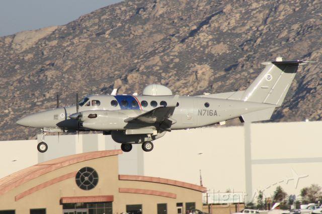 Beechcraft Super King Air 350 (N716A) - Landing at March Air Reserve Base, December 21 2018.