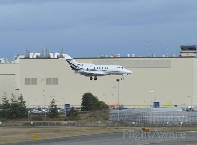 Raytheon Hawker 800 (N45KG) - N45KG seen landing at KPAE. Please look for more photos at Opshots.net