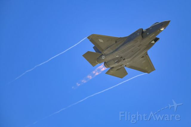 Lockheed F-35C (N5217) - USAF F-35 Lightning II during a flight demonstration at Nellis Air Force Base during Aviation Nation 2019.