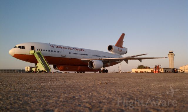 McDonnell Douglas DC-10 — - On the overflow ramp at ABIA