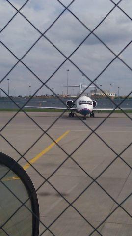 Boeing 717-200 — - Flight 1182 arriving in BUF on 8-27-2011. As seen on gate 14.