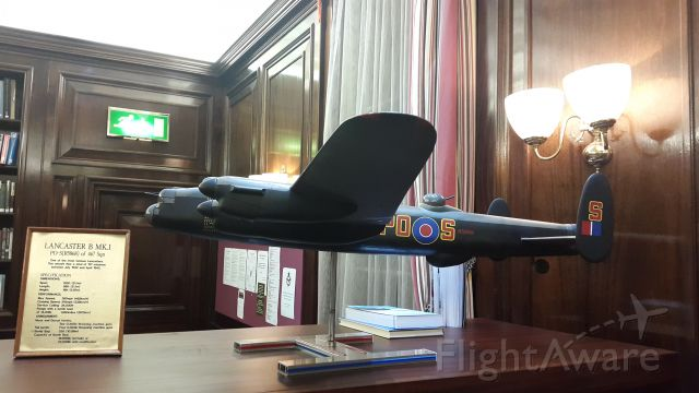 Avro 683 Lancaster — - model of PO-S (R5868) of Royal Air Force 467 Sqn, as seen at the RAFC