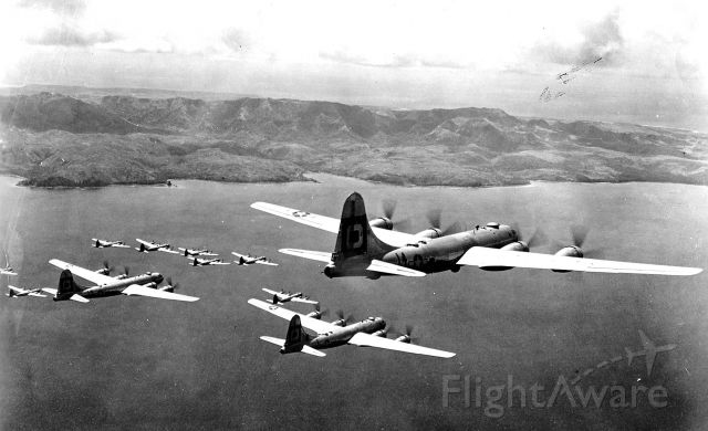 Boeing B-29 Superfortress — - In formation on a mining mission