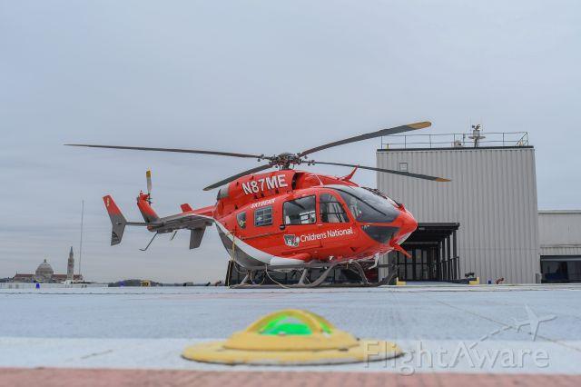 KAWASAKI EC-145 (N87ME) - Awaiting its next call