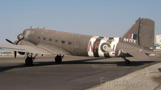 """Douglas DC-3 (N47FK) - Douglas C-47 """"Fifi Kate"""" outside new Lyon Air Museum"""