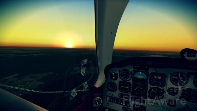 Beechcraft 35 Bonanza (FSXONLY) - This was me flying in FSX about 5 NM away from CSG and at  7,000 Feet.