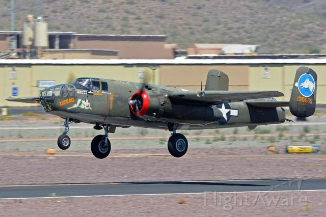 North American TB-25 Mitchell (NL3476G) - North American B-25J Mitchell NL3476G Tondelayo at Deer Valley, Arizona on April 13, 2016.
