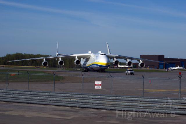Antonov Antheus (UR-82060) - Antonov AN-225 Mriya. (UR-82060) Landing at INT'L MONTRÉAL-MIRABEL AIRPORT (MONTRÉAL CA) YMX at 07:29 (2020-05-24) with medical equipment for COVID-19