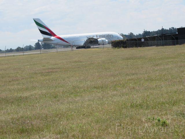 Airbus A380-800 (A6-EUH) - At Approach Gates.