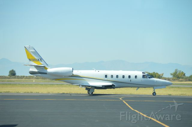 IAI Gulfstream G100 (N565KE) - Taxiing for departure to Brown Field (SDM/KSDM). Photographed from the UVU flight ramp.